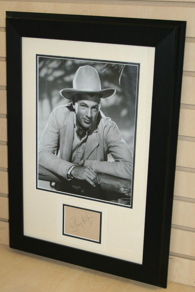 Gary Cooper signed item