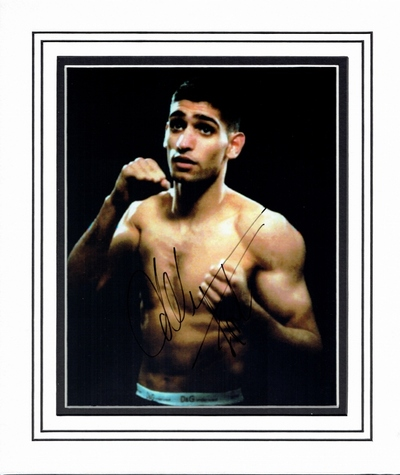 Amir Khan signed photo
