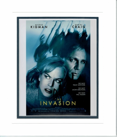 The Invaders mini poster signed