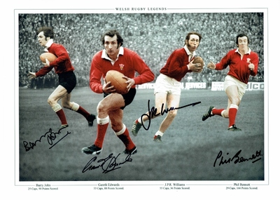 Welsh Legends A3 photo signed