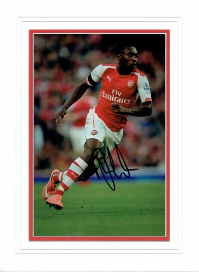 Danny Welbeck signed 12 x 8