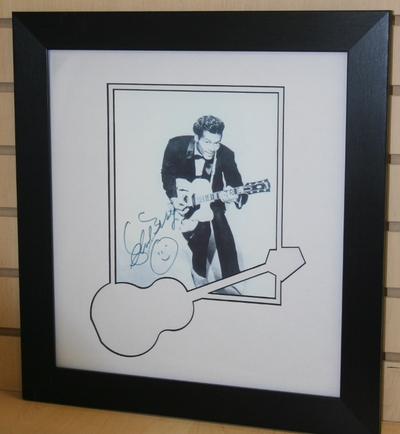 Chuck Berry signed photo