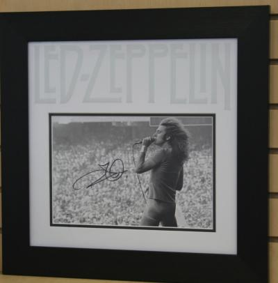 Robert Plant signed 12 x 8