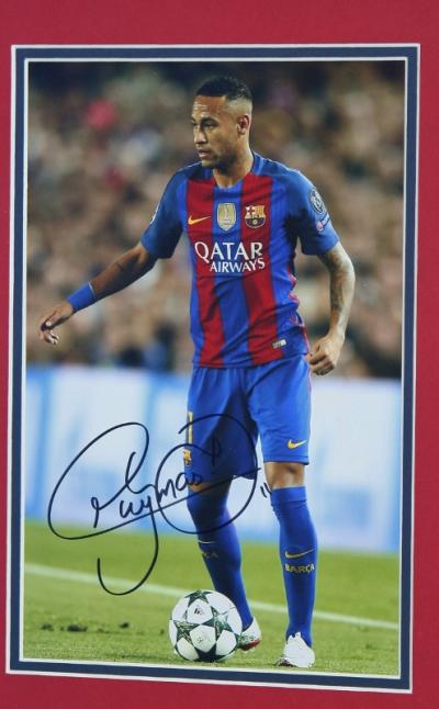 Neymar Jr signed 12 x 8 photo