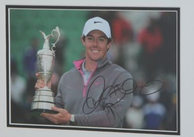 Rory McIlroy signed 12 x 8 photo