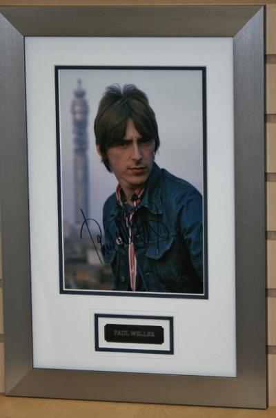 Paul Weller signed photo
