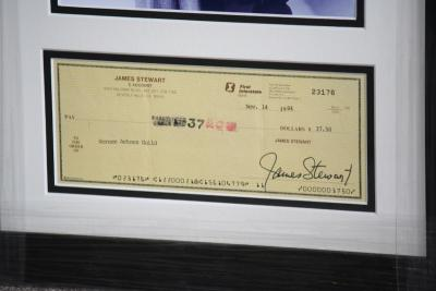 James Stewart signed cheque