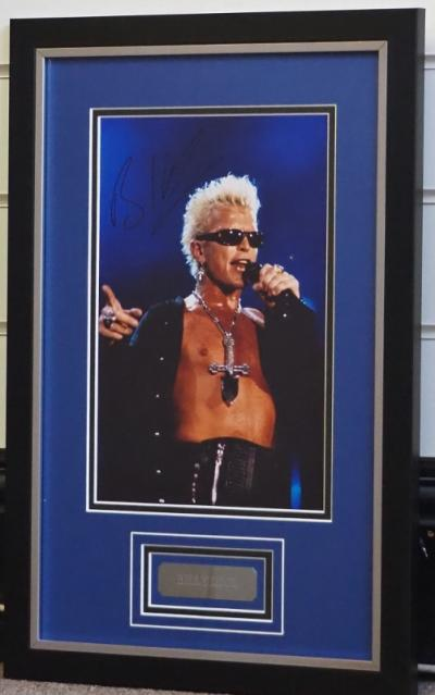 Billy Idol signed 12 x 8 photo