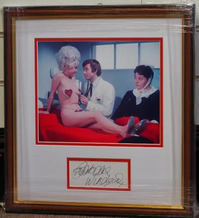 Babs Windsor signed and framed