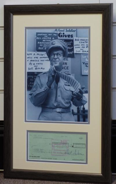 Phil Silvers Bilko signed cheque