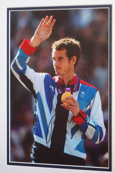 Andy Murray signed photo