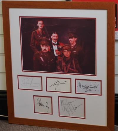 Blackadder Goes Forth signed