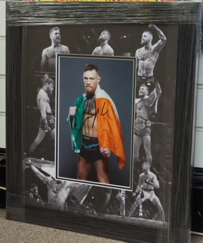 Conor McGregor signed 12 x 8