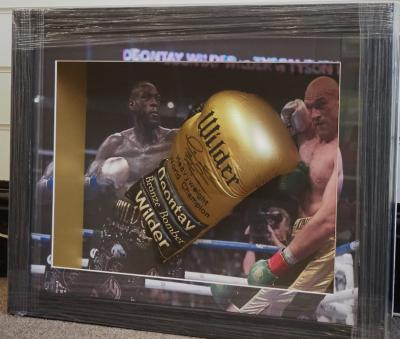 Deontay Wilder signed glove