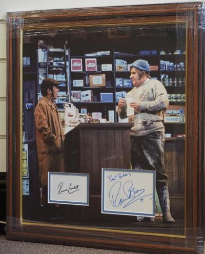 The Two Ronnies signed pages