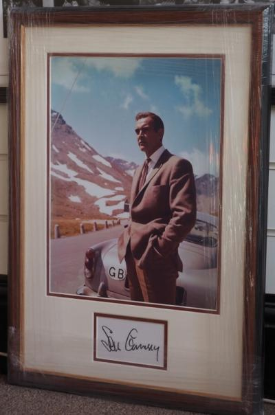 Signed Sean Connery Goldfinger