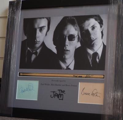 The Jam signed by three