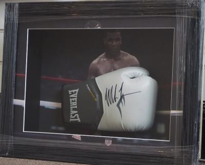 Mike Tyson hand signed glove