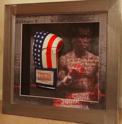 Suger Ray Leonard signed glove